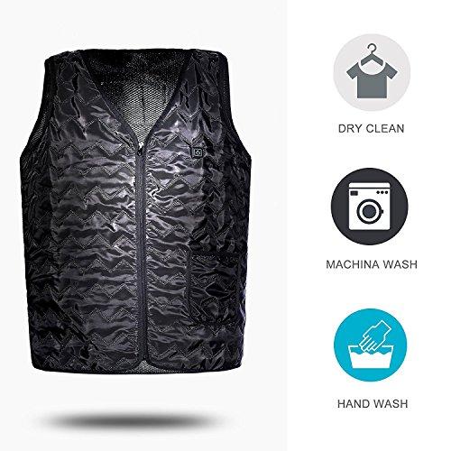 QTKJ Elektrisch Beheizt im Winter Warme Weste, Größe Verstellbar, USB-Erhebung Beheizte Kleidung für den Außeneinsatz