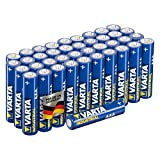 Varta Industrial Batterie AAA Micro Alkaline Batterien LR03-40er Pack, Made in G...