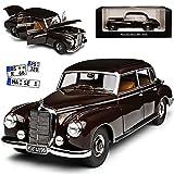 alles-meine.de GmbH Mercedes-Benz 300 W186 Adenauer Limousine Tabak Braun Schwarz 1951-1957 1/18 Norev Modell Auto mit individiuellem Wunschkennzeichen