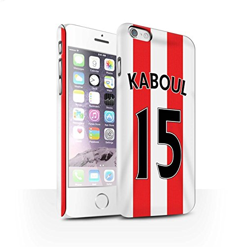 Offiziell Sunderland AFC Hülle / Matte Snap-On Case für Apple iPhone 6 / Borini Muster / SAFC Trikot Home 15/16 Kollektion Kaboul
