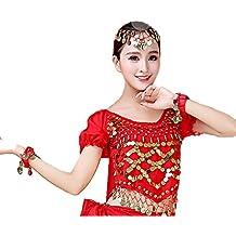 Top in chiffon con danza del ventre delle donne, Qlan Ladies India Arab Dance Costume da carnevale