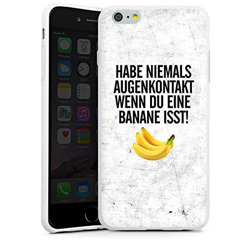 Apple iPhone X Silikon Hülle Case Schutzhülle Augenkontakt Banane Sprüche Silikon Case weiß