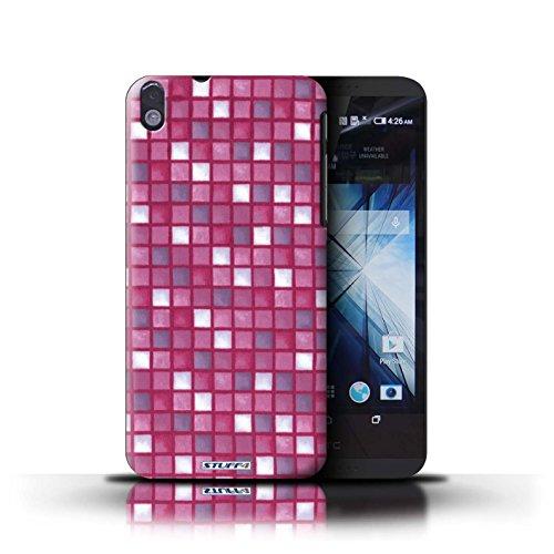 Kobalt® Imprimé Etui / Coque pour HTC Desire 816 / Rose conception / Série Carreau Bain Rose