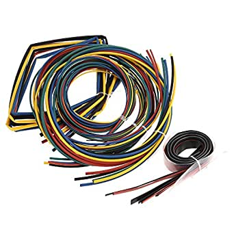 4Pcs Black Heat Shrink Tubing Tubes 3mm 4mm 5mm 6mm Diameter 1 Meter Long UK