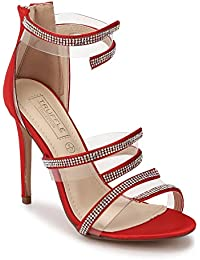 TRUFFLE COLLECTION Women's B9578-A1 Red Synthetic Fashion Sandals
