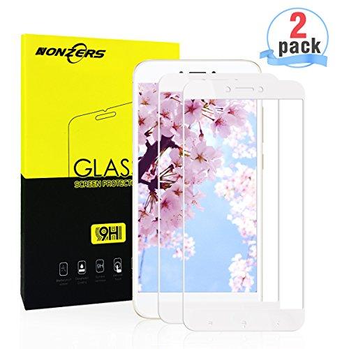 Panzerglas für Xiaomi Redmi 4X,[2 Stück] Ultra-klar 3D Vollständige Abdeckung 9H Härtegrad Panzerglasfolie Displayschutzfolie für Xiaomi Redmi 4X(Weiß)