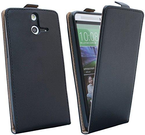 ENERGMiX Klapptasche Schutztasche HTC ONE E8 in Schwarz Tasche Hülle E8 Handy