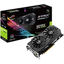 Asus NVIDIA GeForce STRIX-GTX1050TI-O4G-GAMING 4 GB GDDR5 128 Bit Memory HDMI/DP/DVI PCI Express 3 Graphics Card - Black