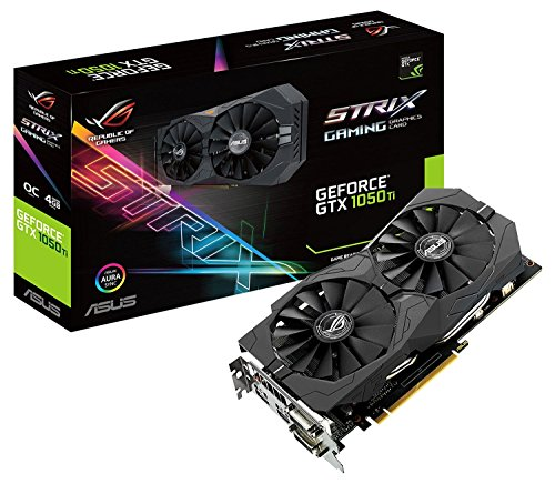 Foto Asus GeForce STRIX-GTX1050TI-O4G-GAMING Scheda Grafica da 4 GB, DDR5, 1493 MHz