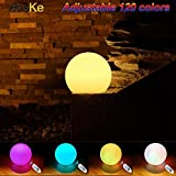 AosKe - Bola flotante LED de 7,9 pulgadas, impermeable, para decoración de jardín, luces intermitentes, productos de iluminación LED para piscina, estanques y fiestas, jacuzzis