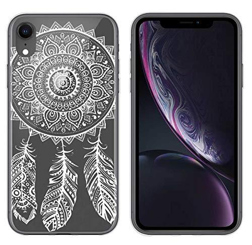 yayago Hülle für Apple iPhone XR Silikon Schutzhülle Hülle Case Backcover Tattoo Ornament Spring Design transparent Tasche