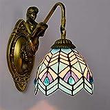 Aussenlampe Wandbeleuchtung Wandlampe Wandleuchte Innen Kreativität Einfache Glasmalerei Kunst Wandlampe, Blaue Mediterrane Design Wandleuchten Für Wohnzimmer Schlafzimmer Nacht Bar Inn