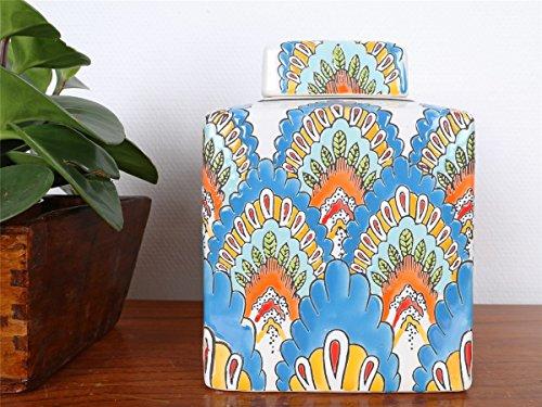 Yajutang Vase Porzellan Deckelvase Ingwergefäß Ginger Jar China 21cm P0138 (Ginger Jar Vase)