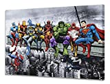 Marvel DC Superhero Toile Murale (différentes Tailles) Captain America Iron Man Batman Wolverine Deadpool Hulk Flash Superman Spider-Man Venom, A0 (32x48 / 81x121cm) UK Only