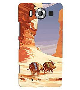 ColourCrust Microsoft Lumia 950 Mobile Phone Back Cover With Water Colour Art Style - Durable Matte Finish Hard Plastic Slim Case