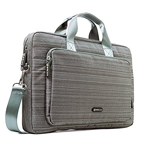 17.3 inch Laptop Case, Evecase Classic Suit Fabric Shoulder Bag Carrying Case Briefcase Compatible with up to 17.3 inch Acer Apple Asus Dell HP Lenovo Samsung Sony Toshiba Laptop Notebook -