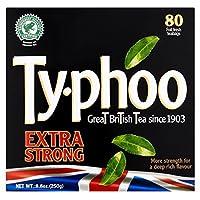 Typhoo Extra Strong - Tea Bags 80 Foil Fresh Teabags