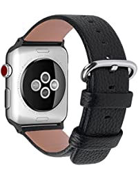 Fullmosa Compatible Bracelet Apple Watch 38mm (40mm Serie 4) Cuir,15  Couleurs Bracelet pour Apple Watch… 6357e726351