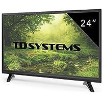 Televisores Led 24 Pulgadas Full Hd TD Systems K24DLTM7F (Resolución Fullhd /HDMI 1/VGA 1/USB Repoductor y Grabador) Tv Led TDT HD DVB-T2