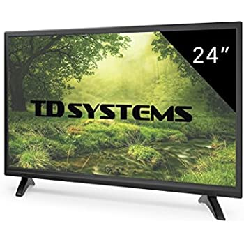 TV 24 Pollici HD LED TD Systems Televisori Full HD, Registratore USB, HDMI, VGA