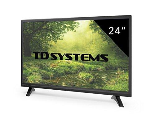 Televisores Led 24 Pulgadas Full HD TD Systems K24DLM7F. Resolución Full HD, HDMI, VGA, USB Reproductor y Grabador. Tv Led TDT HD DVB-T2