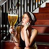 Xuan - worth having Rosso Bicchiere di Vino Wine Red Giant Champagne Occhiali Oversize Whisky Birra Succo di Bicchieri di Vino Birthday Party Bicchieri di Champagne (Size : 2500ML)