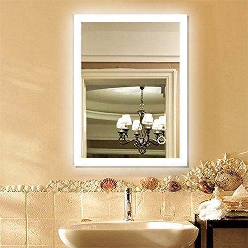 Badspiegel mit Beleuchtung,Badezimmerspiegel mit Beleuchtung, Beleuchtete Touch Control,mit Anti-Beschlag-Funktion,Rechter Winkel (80 * 60cm)