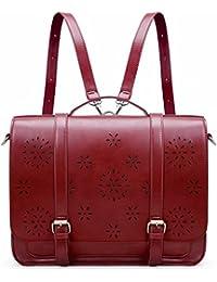 ECOSUSI Women Vintage Laptop Messenger Bag Satchel Backpack for 14.7inch Tablet