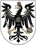 8 x 6,4 cm - Konturschnitt - Autoaufkleber Preussen Adler Wappen deutsches Reich Aufkleber Sticker fürs Auto Motorrad Handy
