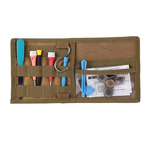 Balight Auto Sonnenschutz Visier Veranstalter, KFZ-Halterung Tasche, Aufbewahrungstasche 600D Nylon Multi Pocket für Autos, CD Brillen Karte Lizenz, Mud Color