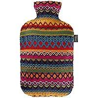 Fashy 6757 25 2007 Wärmflasche mit Bezug im Peru - Design 2.0 L, braun - rosa
