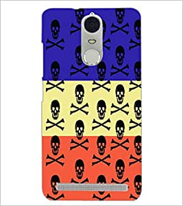 PrintDhaba Skull D-3228 Back Case Cover for LENOVO K5 NOTE (Multi-Coloured)