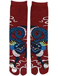 Tabi Ninja/ Tabi Chaussettes authentiques Japonaises : Uni-sexe(Dragon)ーRyu!!