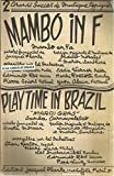 Mambo en fa , paroles françaises de Jacques Plante, version originale et musique Obdulio Morales et Marion Sunshine / Playtime in Brazil