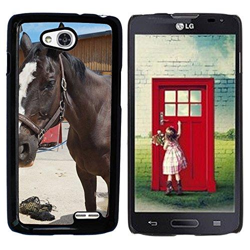 Nur Handy HOT STYLE HANDY PC Hard Case Cover//m00139381Pferd Rap Blaze Schwarz Weiß//LG Optimus L90D415 (Lg Optimus L90 Hard Phone Case)