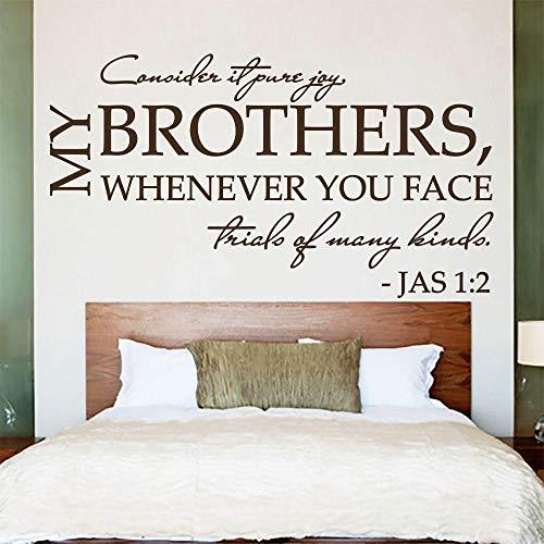 Wandaufkleber Kunst Schlafzimmer Blume Bibel Schrift Psalm James 1: 2 Denke, Es Ist Reine Freudige Vinyl Diy Teen Zimmer Wandhaupt Aufkleber Wanddekoration Wandbild