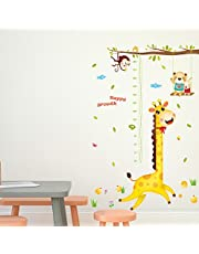 Solimo Wall Sticker for Kids' Room (Happy Growth Giraffe,  ideal size on wall: 126 cm x 183 cm )