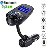 WIOR Bluetooth FM Transmitter. Car Bluetooth MP3 Player Wireless Radio Adapter Hands-Free Calling Car Kit USB Port TF Card with 1.44Inch Display and 3.5mm AUX Input Device