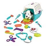 Battat - Kit vétérinaire avec dalmatien - Jouets et outils vétérinaires avec cage de transport - pour enfants âgés de 2 ans et + (15 articles)...