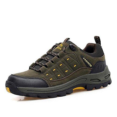 Suetar Scarpe da Trekking da Escursionismo Moda Uomo/Donna Scarpe da Arrampicata all'aperto Impermeabili e Antiscivolo e durevoli Brown