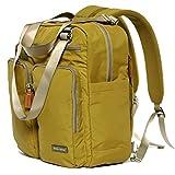 Bebamour Baby Changing Bag Travel Backpack Nappy Changing Bag Set (Dark Yellow)