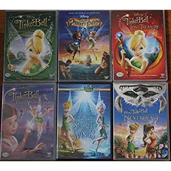 TINKER BELL Walt Disney COLLECTION 6 dvds TINKER BELL and