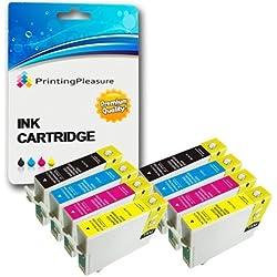 8 Cartouches d'encre compatibles pour Epson Stylus D68, D88, D88 Plus, DX3800, DX3850, DX3850 Plus, DX4200, DX4250, DX4800, DX4850, DX4850 Plus | T0611, T0612, T0613, T0614 (T0615)