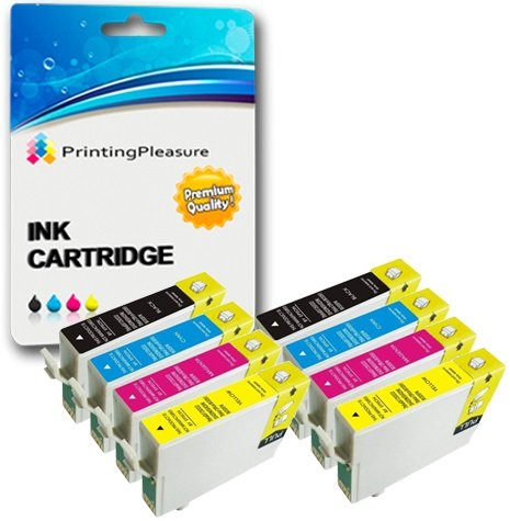 8 Cartouches d'encre compatibles pour Epson Stylus Photo R240, R245, RX400, RX420, RX425, RX430, RX450, RX520 / T0551, T0552, T0553, T0554 (T0555)