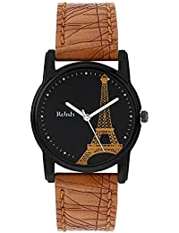 Relish Analog Eiffel Tower Black Dial Watches for Girls & Women RE-L070TT