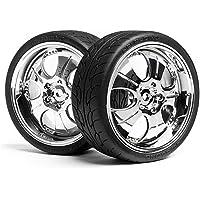HPI 4721 Mounted Super Low Tread Tire (Chrome/4Pcs) - Compare prices on radiocontrollers.eu