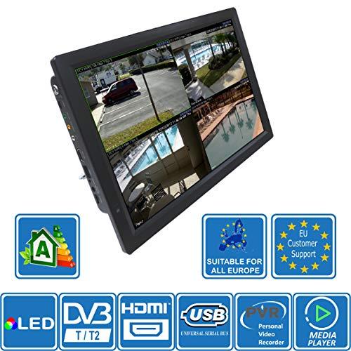 51m8 p7g2vL - Autocaravana Caravana Barco Cocina 12 voltios 14 Pulgadas LED TV Digital HD DVB-T2. TDT y Toda la televisión de Europa. 12V 230V USB PVR y Reproductor Multimedia, Monitor CCTV HDMI de Unispectra®