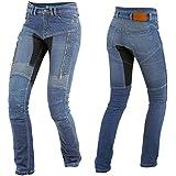 Trilobite Parado Dupont Kevlar Jeans Dames - Blau // Motorradjeans // inkl. Protektoren - Größe Inch 30