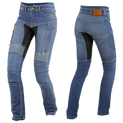 *Trilobite Parado Dupont Kevlar Jeans Dames – Blau // Motorradjeans // inkl. Protektoren – Größe Inch 32*