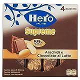 Hero Muesly Supreme Barretta di Cereali con Arachidi e Cioccolato al Latte, Pacco da 4 x 24 gr, Totale: 96 gr